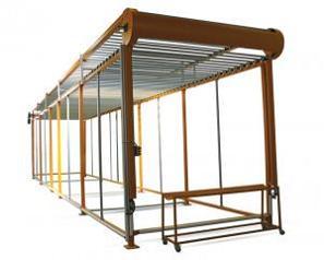 Оборудование для обработки ковров Donertas Система для вывешивания и сушки ковров